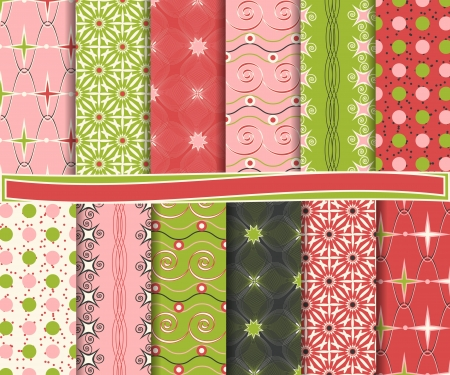 Abstract vector set of scrapbook paper Vector