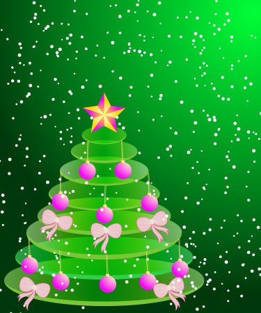 abstract Christmas illustration Christmas tree Vector