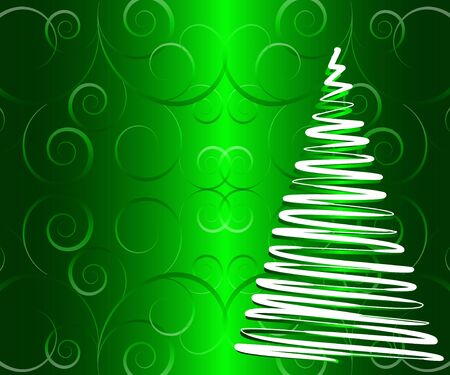 abstract  illustration of stylized Christmas tree Illustration