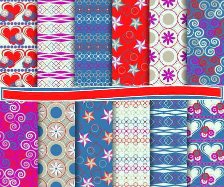 Abstract set of paper for scrapbook Vector