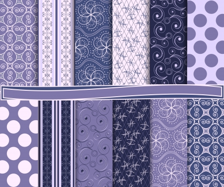 Abstract  set of scrapbook paper Illustration