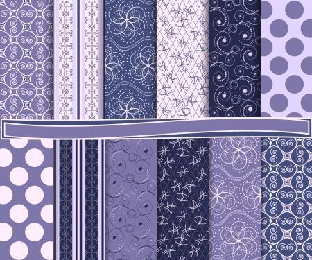 lines wallpaper: Abstract  set of scrapbook paper Illustration