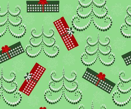 Vector Christmas illustration seamless Stock Vector - 15466165