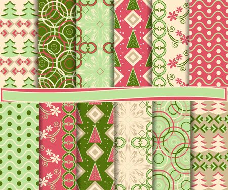set of Christmas paper for scrapbook Stock Vector - 15631297