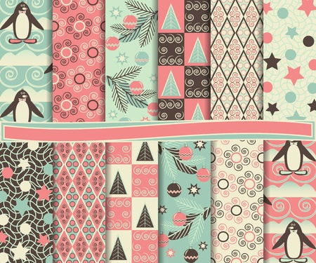Abstract  set of paper for scrapbook Illustration