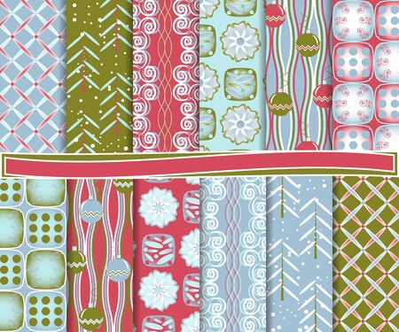 abstract Christmas set of paper for scrapbook Stock Vector - 15870116