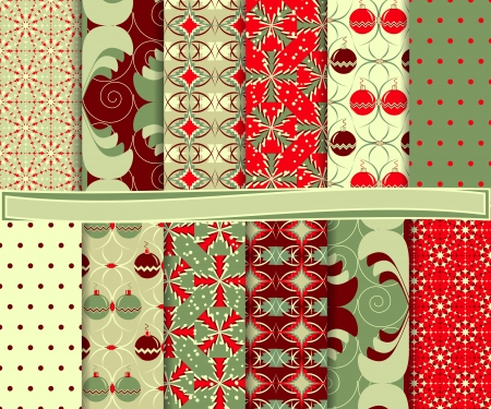abstract Christmas vector set of paper for scrapbook Stock Vector - 16145438