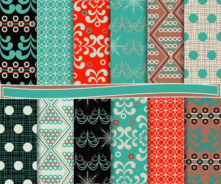 Abstract vector set of Christmas paper for scrapbook