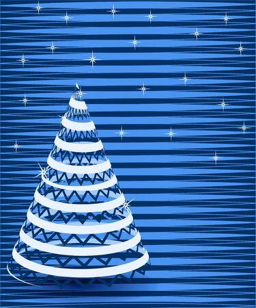 abstract Christmas vector illustration Christmas tree Stock Vector - 16145442