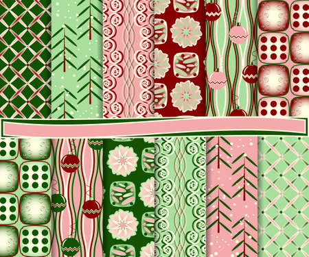 abstract Christmas vector set of paper for scrapbook Stock Vector - 16258272