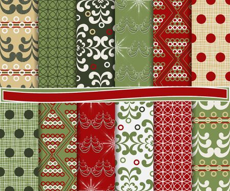 Abstract set of Christmas paper for scrapbook Stock Vector - 16625465