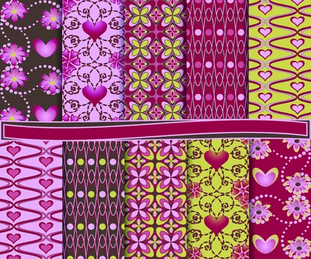 Abstract set of paper Valentine Vector