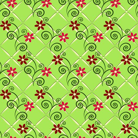 abstract vector seamless floral pattern Stock Vector - 17423034
