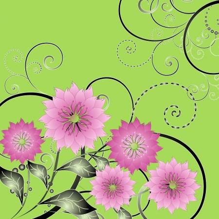 compliments: abstract vector illustration of floral Illustration