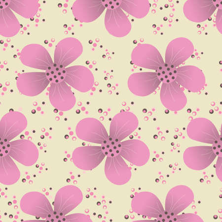 sophistication: abstract vector illustration of floral Illustration