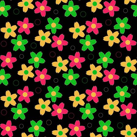 abstract floral vector illustration seamless Vector