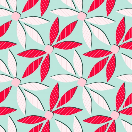seamless abstract vector illustration with stylized leaves Vector