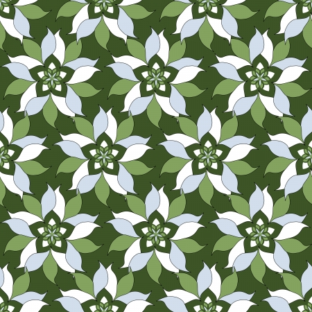 Seamless vector pattern with abstract flowers Vector