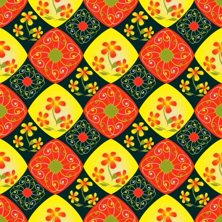 vector illustration with abstract floral pattern Vector