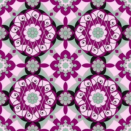 Abstract vector illustration of floral Vector