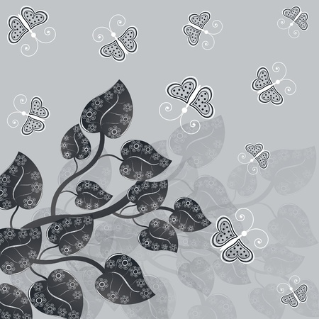 abstract vector illustration with butterflies Vector