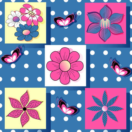 abstract floral vector set of paper for scrapbook Vector