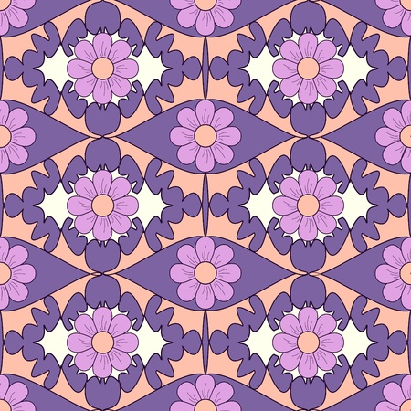 Seamless abstract floral vector illustration