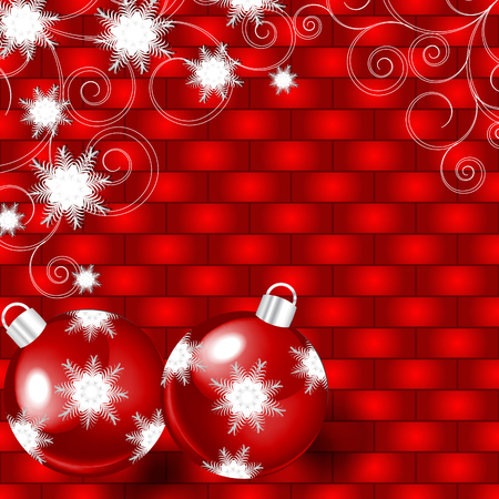 vector illustration with Christmas balls Vector