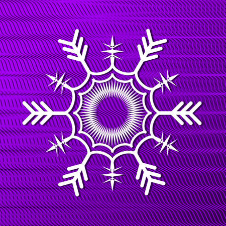 abstract Christmas illustration with snowflake Vector