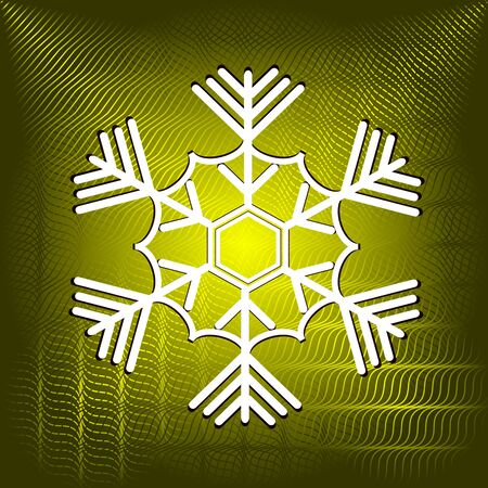 abstract Christmas vector illustration with snowflake Vector