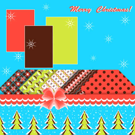Abstract vector illustration of Christmas greeting card  Vector
