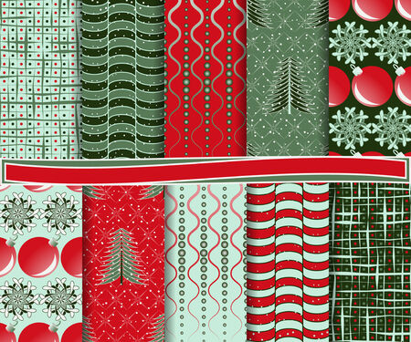 abstract Christmas vector set of paper for scrapbook  Vector