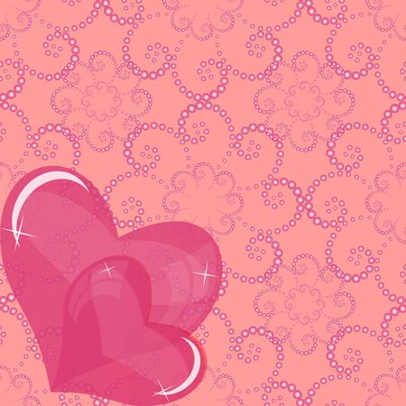 valentine s day background: abstract vector illustration of Valentine