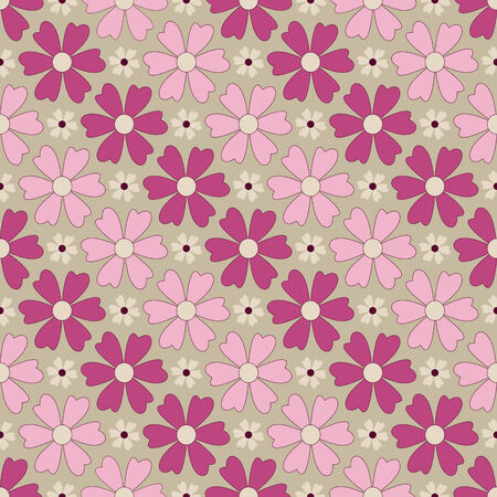 clippings: Seamless abstract floral illustration