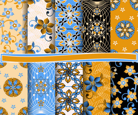 set of  abstract vector paper for scrapbook  Vector