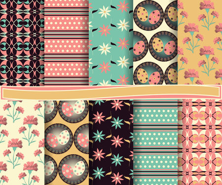 set of abstract vector paper for scrapbook day Easter Vector