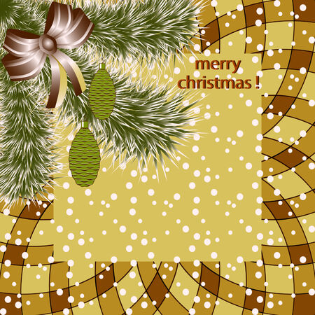Christmas abstract vector illustration greeting card