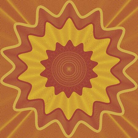 rosettes: vector illustration abstract pattern guilloche Illustration