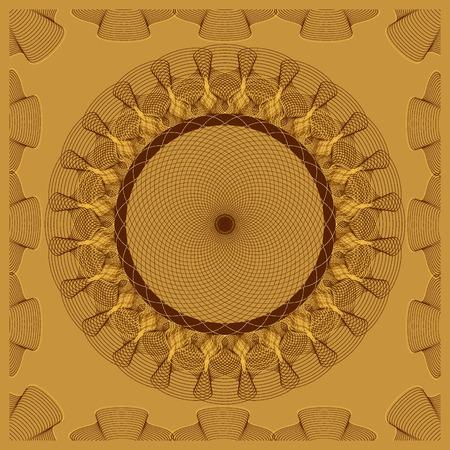 vector illustration abstract pattern guilloche Illustration