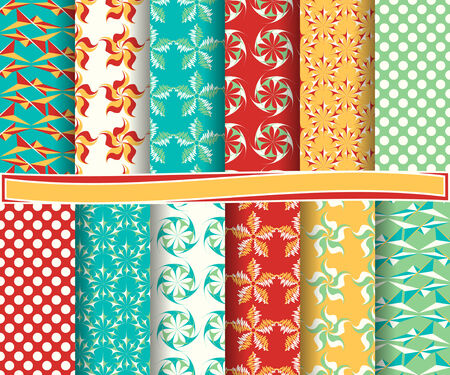 set of  abstract vector paper for scrapbook Illustration
