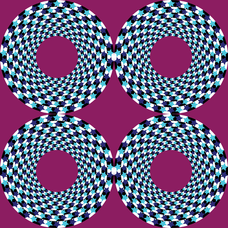 distorted image: Abstract vector illustration optical illusion of geometric shapes and stars