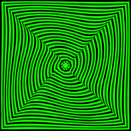 distorted image: Abstract vector illustration optical illusion