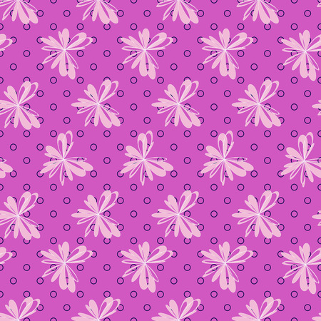decorative design: Seamless vector illustration background of abstract flowers