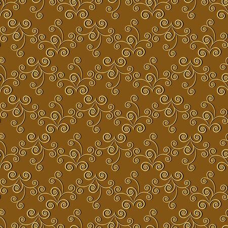 curls: seamless abstract vector pattern curls Illustration
