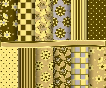 decoratively: set of  abstract vector floral paper for scrapbook