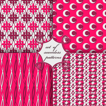 openwork: vector set of seamless patterns