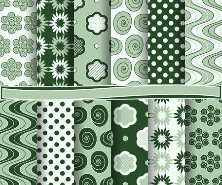 decoratively: set of  abstract vector paper for scrapbook Illustration