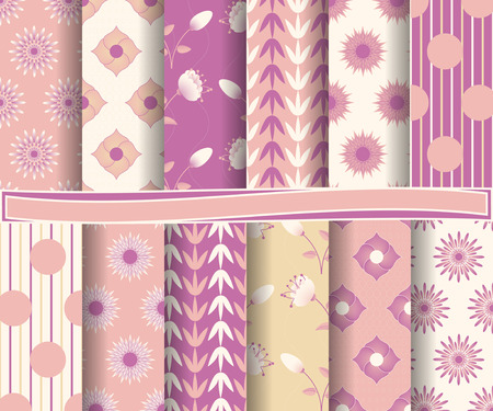 decoratively: set of  abstractl vector paper for scrapbook