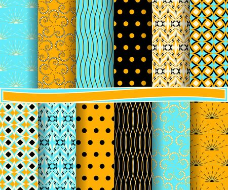 scrapbook: set of abstract vector paper with decorative shapes and design elements for scrapbook