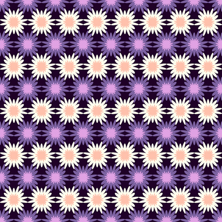 fabric patterns: Seamless vector abstract decorative floral pattern